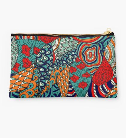 60s hippie abstract print Studio Pouch