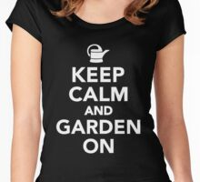 Keep Calm And Garden On Women's Fitted Scoop T-Shirt