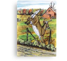 Deer Leaving Canvas Print