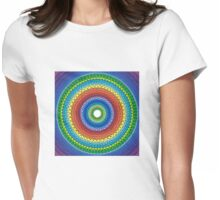 Happy Rainbow Mandala Womens Fitted T-Shirt