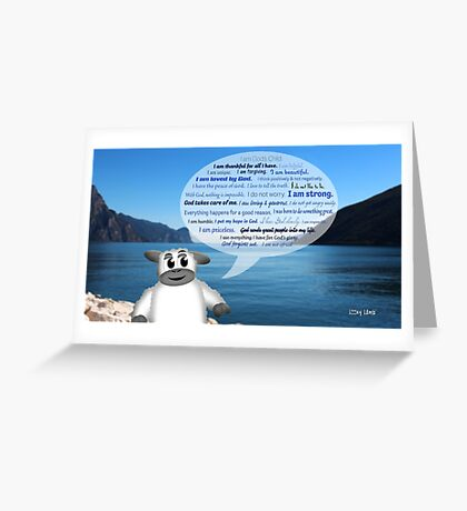 Christian Positive Affirmations for Kids Greeting Card