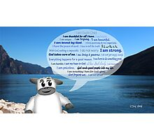 Christian Positive Affirmations for Kids Photographic Print