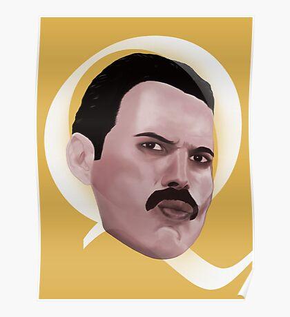 Queen Freddie Poster