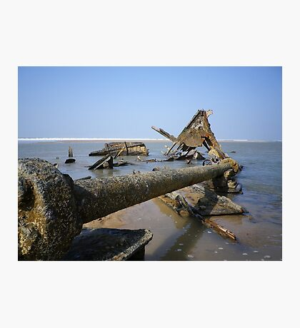 SHIPWRECK OF STEAMSHIP BELEM CORNWALL Photographic Print