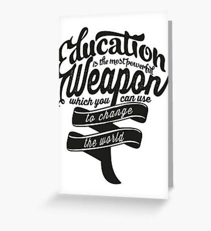 Education Greeting Card