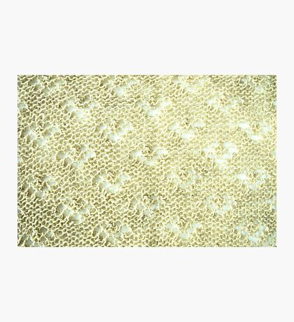 Lace knitting detail Photographic Print