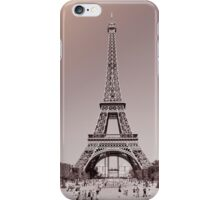 Eiffel Tower in Gray and Pink iPhone Case/Skin
