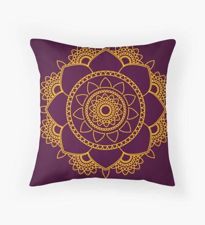 Just Breathe Mandala Yoga Artwork Soul Mandala Throw Pillow