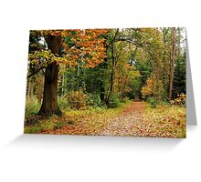 Walking on into autumn again Greeting Card