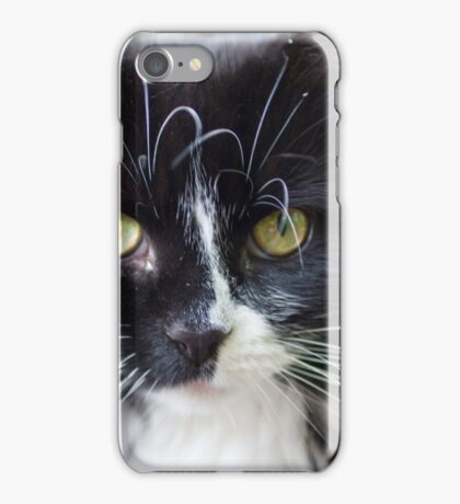 Black and white cat iPhone Case/Skin