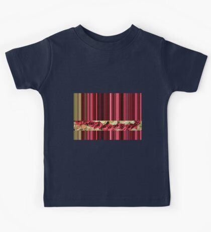 Stripes & Roses by TheRosegarden Kids Tee