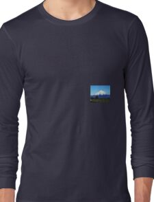 Majestic Mt Taranaki- New Zealand Long Sleeve T-Shirt