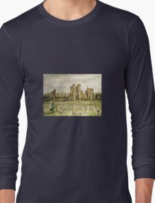 Plein Air Painting At Cowdray House Ruins Sussex Long Sleeve T-Shirt