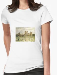 Plein Air Painting At Cowdray House Ruins Sussex Womens Fitted T-Shirt