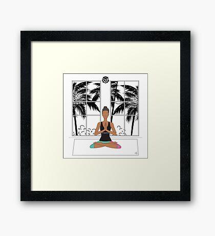 Yoga Girl. Framed Print