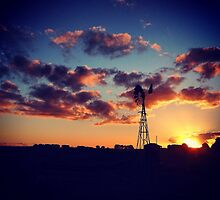 A windmill stands proudly before a sunset by MattLawsonPhoto Novelty gifts