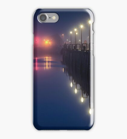 Misty Swansea Marina lights iPhone Case/Skin