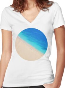 Sand x Sea Women's Fitted V-Neck T-Shirt