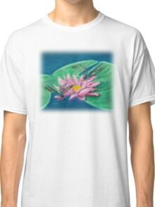Dragonflies On Water Lily Classic T-Shirt