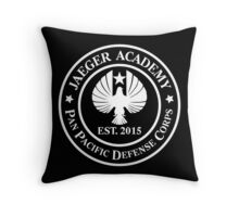 Jaeger Academy logo in white! Throw Pillow