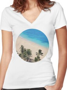 Hawaii Dreams Women's Fitted V-Neck T-Shirt