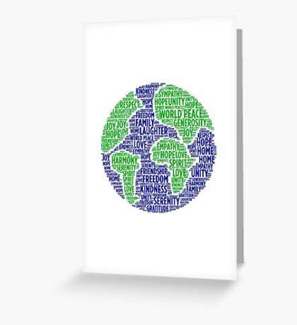 World Peace Word Cloud Greeting Card