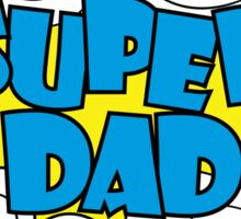 Super Dad - text in retro comic style Sticker