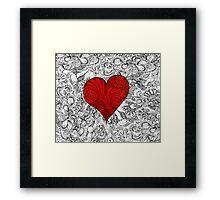 Red Red Love Heart Framed Print