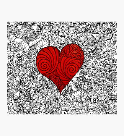 Red Red Love Heart Photographic Print