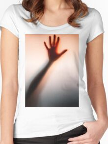 knocking on the glass Women's Fitted Scoop T-Shirt