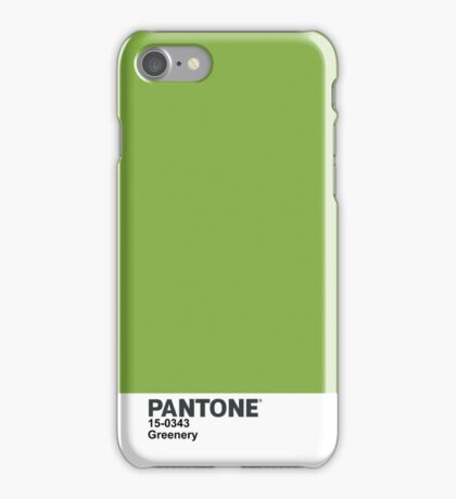 Pantone 2017 Color of the Year - Greenery iPhone Case/Skin