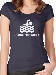 I Swim For Bacon Women's Fitted Scoop T-Shirt