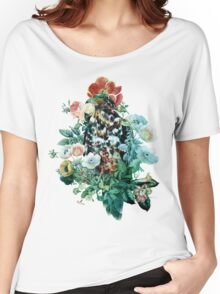 Bird in Flowers Women's Relaxed Fit T-Shirt