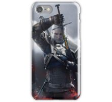 Witcher 3 - Geralt Portrait with Sword iPhone Case/Skin