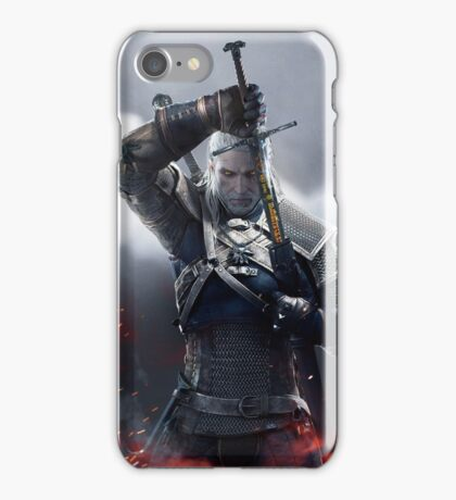 Witcher 3 - Geralt Portrait with Sword iPhone Case/Skin