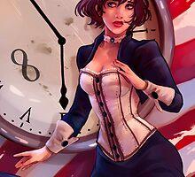 Bioshock Infinite: Elizabeth clock by mariafumada