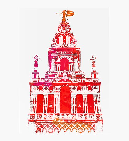 Seville - Giralda Red Photographic Print