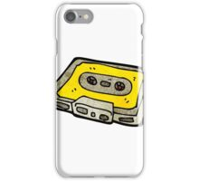 retro cassette tape cartoon character iPhone Case/Skin