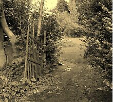 A Walk Around Hazelbank..The old garden gate...always open. Photographic Print