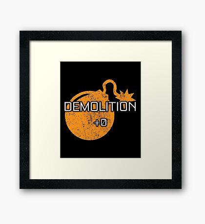 Rocket Leaugue Video Game Demolition +0 Funny Gifts Framed Print