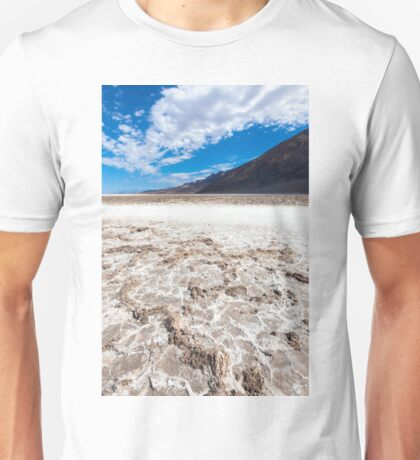 Salted lake in the Death Valley Unisex T-Shirt