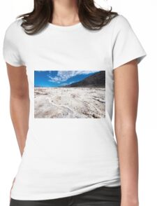 Salted lake in the Death Valley Womens Fitted T-Shirt