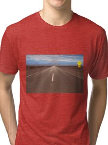 the route crossing the Death Valley Tri-blend T-Shirt