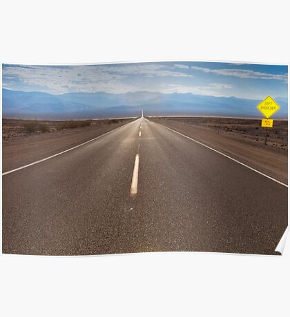 the route crossing the Death Valley Poster