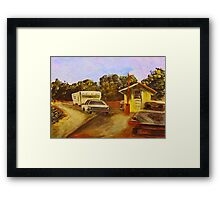 Toll Booth Framed Print