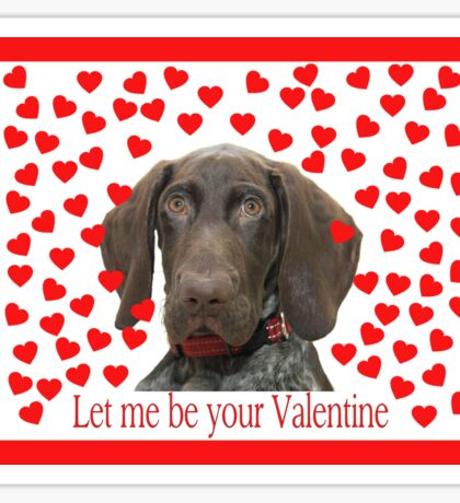 Glossy Grizzly Let me be your valentine Sticker
