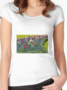 Vibrant Tulips Women's Fitted Scoop T-Shirt