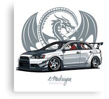 Mitsubishi Lancer Evo X Canvas Print