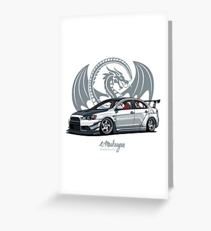 Mitsubishi Lancer Evo X Greeting Card