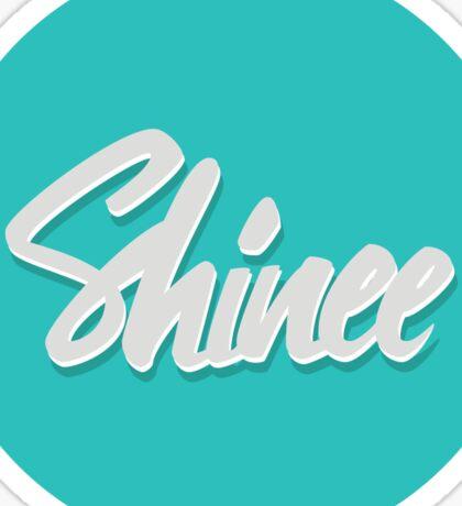 Shinee Brush Script Circle Sticker